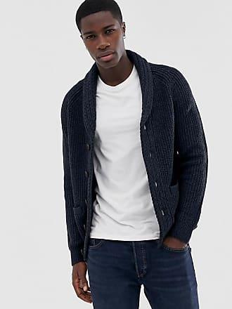 c0f5b47313d7 Pier One Cardigan en laine mélangée avec col épais - Bleu - Bleu