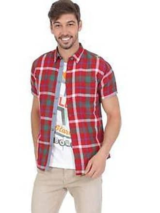 Springfield Camisa Custom Fit con Motivo de Tartán <br>Rojo, Verde y Azul