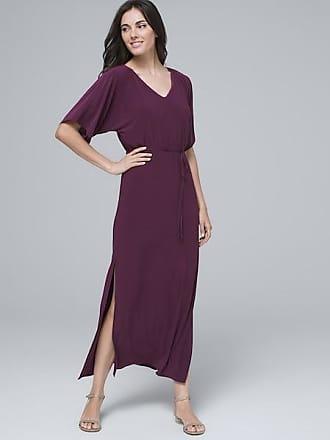 White House Black Market Womens Kimono-Sleeve Maxi Dress by White House Black Market, Empire Plum, Size XXS