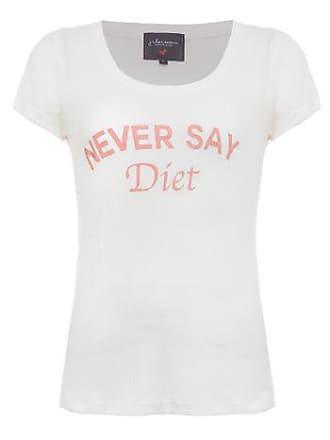 J. Chermann T-shirt Never Say Diet J.Chermann - Off White