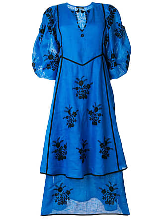 Vita Kin embroidered flower dress - Blue
