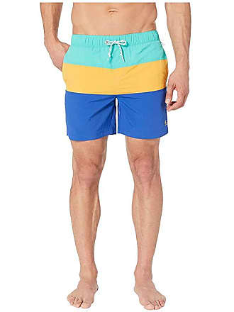 dd926cb390 Original Penguin Color Block Elastic Waist Swim Shorts (Cadmium Yellow)  Mens Swimwear