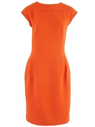 6e4178997c5 Giambattista Valli Burnt Orange Wool Dress - 44