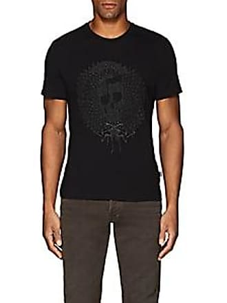 Just Cavalli Mens Embroidered Cotton Jersey T-Shirt - Black Size M