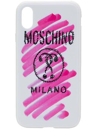 Moschino logo print iPhone XR case - White