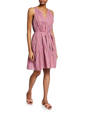 Xirena Elouise Striped Sleeveless Tiered Cotton Dress
