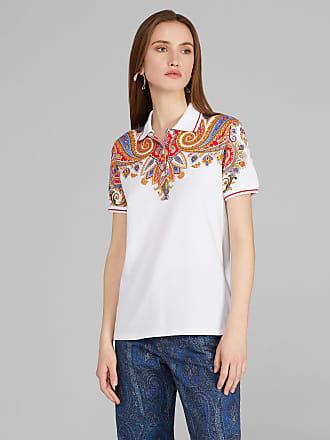 Etro Polo-shirt Mit Paisley-print, Damen, Rosa, Größe 38
