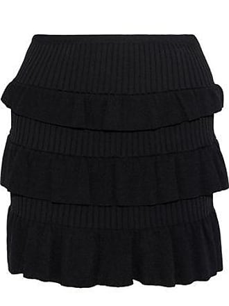 1f1cf36c08 Red Valentino Redvalentino Woman Tiered Knitted Mini Skirt Black Size XS