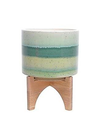 Sagebrook Home Sagebrook Home 13183-07 Ceramic Planter On Stand, Green Mix
