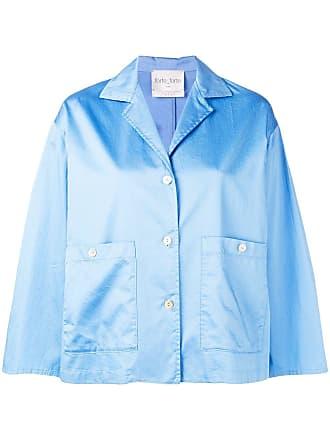 Forte_Forte boxy shirt jacket - Blue