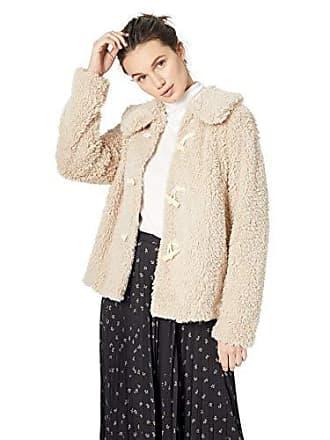 Kensie Womens Teddy Fur Jacket, Ginger Root, L