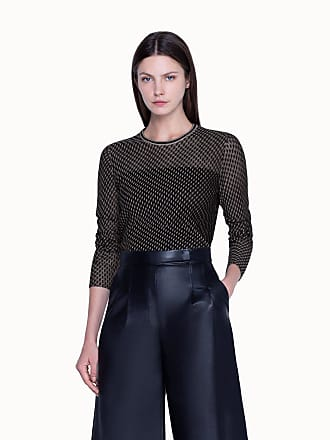 Akris Knitted Pullover in Cashmere Silk Diagonal Tweed Jacquard
