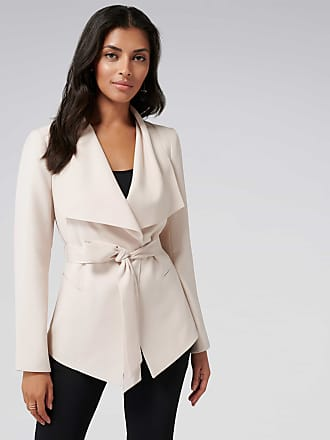 Forever New Lesley Waterfall Jacket - Nude Shimmer - 10