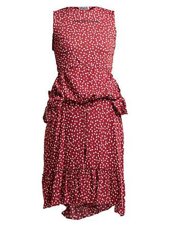 1fa6b4a89a4f Balenciaga Paisley Print Layered Dress - Womens - Burgundy Print