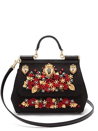 b6fea91b44e2 Dolce   Gabbana Sicily Ayers   Brocade Cross Body Bag - Womens - Black Multi