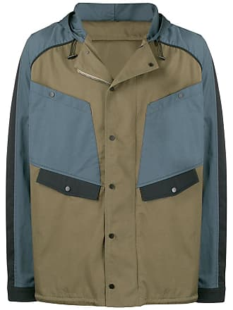 Qasimi colour panelled jacket - Green