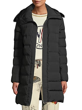 0d7286d958f0 Moncler Lionette Long Puffer Coat w  Fur Trim