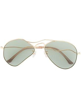 Ground-Zero distorted frame sunglasses - Dourado