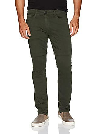 Paige Mens Federal Slim Leg Twill Pant, Wild Forest, 38