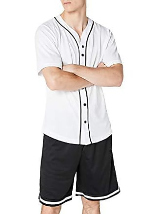 45957cd98bb Urban Classics Baseball Mesh Jersey - camiseta Hombre, Mehrfarbig (wht/blk  224)
