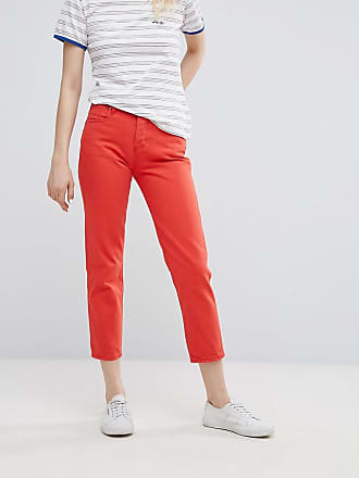 Wrangler Cropped Straight Jean - Red