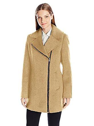 012ac866d871d Andrew Marc Womens Shannon Asymmetric Wool Coat, Camel, 10