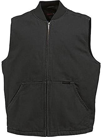 Wolverine Mens Finley Cotton Duck Insulated Vest, Black, Large