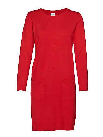 6e60dd18523d Saint Tropez Knit Dress With Pockets Stickad Klänning Röd SAINT TROPEZ