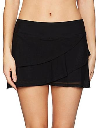 66447c905d Coco Reef Womens Mesh Layered Skort Bottom Swimsuit, Classic Solids  Castaway Black, Small