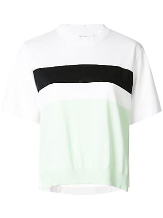 Sportmax colour block knitted top - White