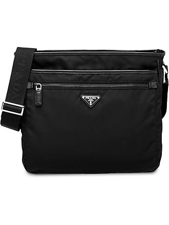Prada logo messenger bag - Preto