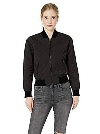 A|X Armani Exchange Womens Quilted Bomber Jacket, Black, S