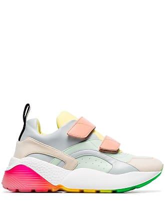 Stella McCartney pastel Eclypse faux-leather sneakers - Green
