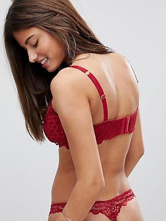 05da597374195 Asos Fuller Bust Rita lace mix   match plunge bra - Red