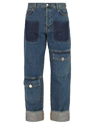 J.W.Anderson Jw Anderson - Asymmetric Pocket Straight Leg Jeans - Mens - Blue