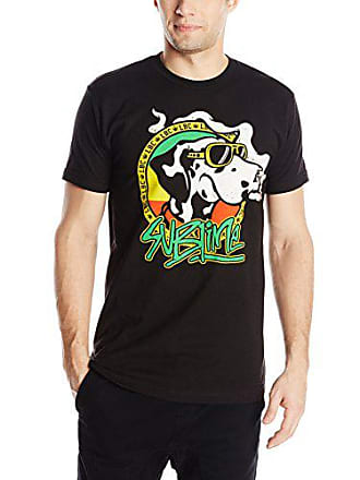 5fcb5431 Fea Merchandising Mens Sublime Cartoon Dog with Joint Lightweight T-Shirt,  Black, X