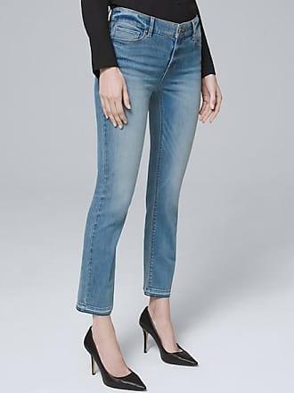 White House Black Market Womens Mid-Rise Crop Flare Jeans by White House Black Market, Medium Wash, Size 00 - Regular