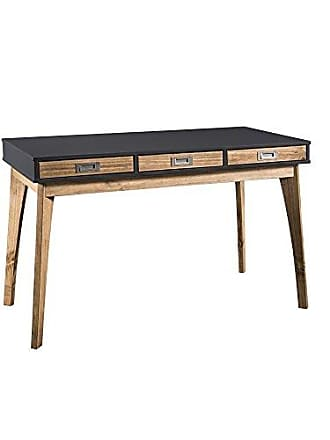 Manhattan Comfort CS96209 Jackie Rustic Modern Office Desk Dark Grey