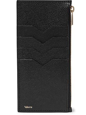 Valextra Full-grain Leather Zipped Cardholder - Black