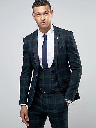 Asos ASOS - Veste de costume super skinny à grands carreaux écossais  Blackwatch - Vert 51f46b9ccf1