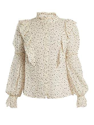 Rebecca Taylor Star Print Silk Blend Blouse - Womens - Cream Multi