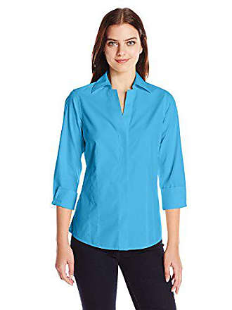 c115044f544d4a Foxcroft Womens Plus Size 3 4 Sleeve Taylor Essential Non Iron Shirt