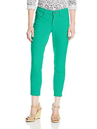 NYDJ Womens Petite Size Clarissa Skinny Ankle Jeans, Jade Mint, 0