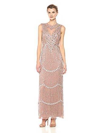 c5fe29a7bd0 Aidan Mattox Womens Sleeveless Beaded Tiered Fringe Gown