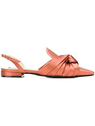 N°21 pointed embellished slingback pumps - Orange