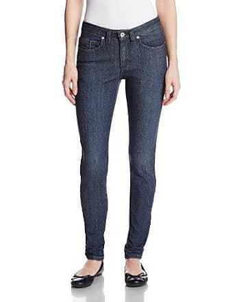 Dickies Womens Slim Skinny Leg Denim Jean, Antique Dark Stonewash, 18 Regular