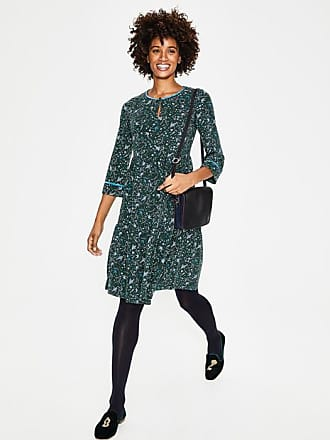 Boden Claire Jersey Dress Chatsworth Green Woodland Women Boden