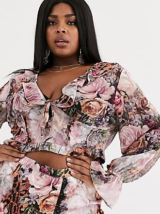 Missguided Bluse mit Blumen- und Leopardenmuster-Mix, Kombiteil-Mehrfarbig