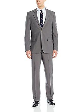 Nautica Mens Two Button Fancy Suit, Gray, 40 Regular