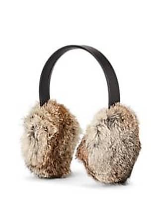 Crown Cap Mens Rabbit Fur Earmuffs - Neutral